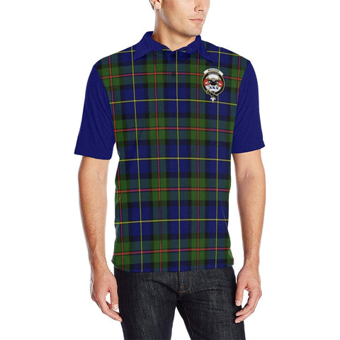 Tartan Polo - MacLeod Plaid Mens Polo Shirt - Clan Crest
