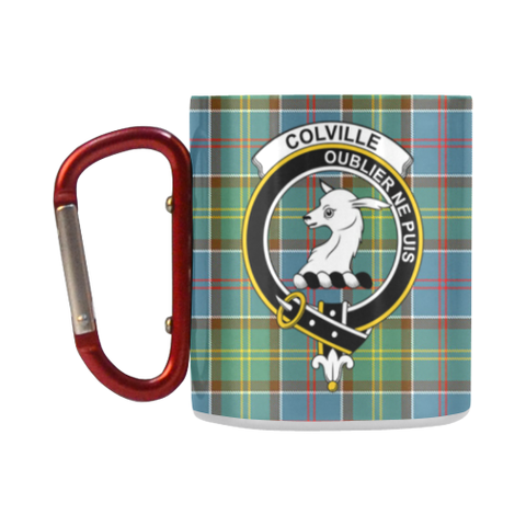 Image of ScottishShop Insulated Mug - Colville DistrictTartan Insulated Mug - Clan Badge