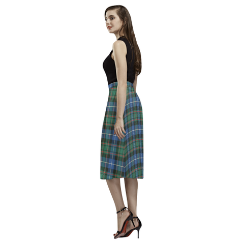 Tartan Crepe Skirt - MacRae Hunting Ancient Skirt For Women