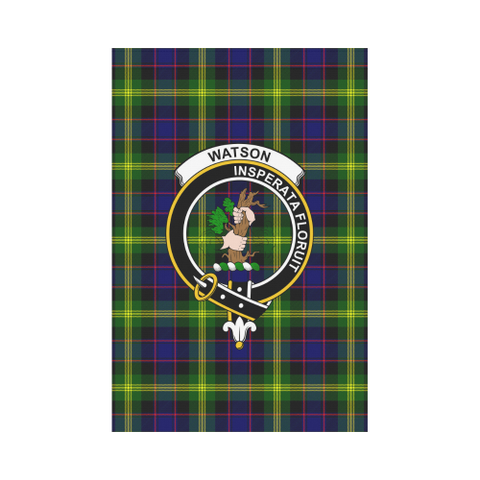 ScottishShop Garden Flag - Tartan Watson Modern Flag  Clan Badge