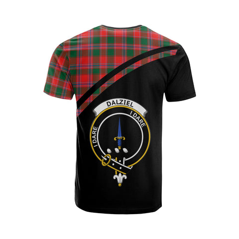 Tartan Shirt - Dalziel Clan Tartan Plaid T-Shirt Curve Version Back