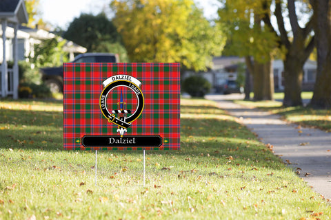 ScottishShop Dalziel Yard Sign - Tartan Crest Yard Sign