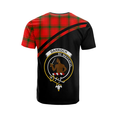 Tartan Shirt - Darroch (Gourock) Clan Tartan Plaid T-Shirt Curve Version Back