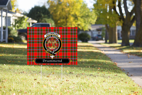 ScottishShop Drummond Yard Sign - Tartan Crest Yard Sign