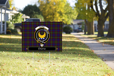 ScottishShop Durie Yard Sign - Tartan Crest Yard Sign
