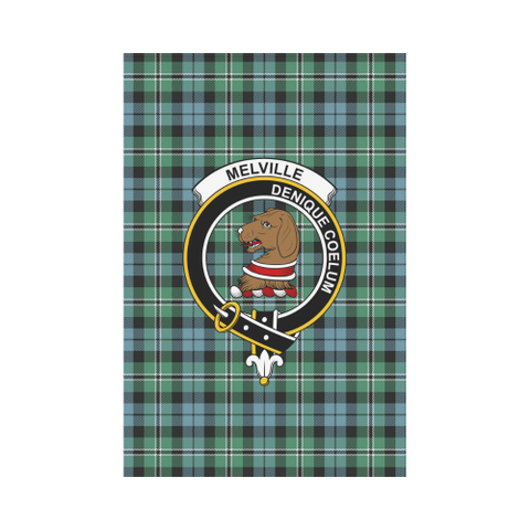 Garden Flag | Tartan Melville Flag | 2 Sizes Clan Badge