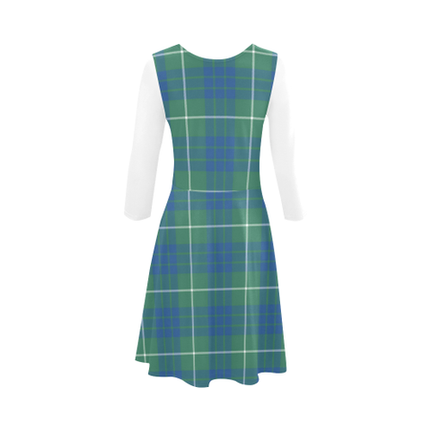 Hamilton Hunting Ancient Tartan 3/4 Sleeve Sundress | Exclusive Over 500 Clans