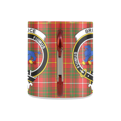 ScottishShop Insulated Mug - Bruce Modern Tartan Insulated Mug - Clan Badge