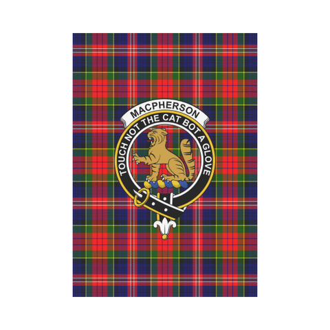 ScottishShop Garden Flag - Tartan Macpherson Modern Flag  Clan Badge