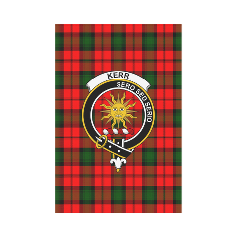 ScottishShop Garden Flag - Tartan Kerr Modern Flag  Clan Badge