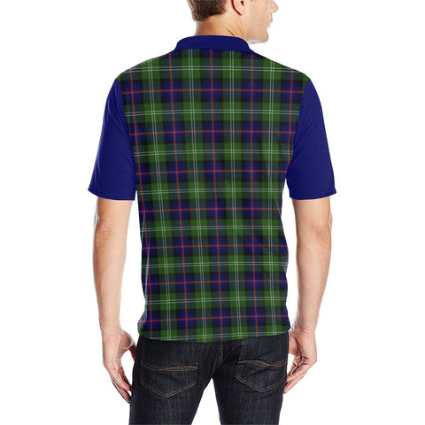 Image of Tartan Polo - Sutherland II Plaid Mens Polo Shirt - Clan Crest