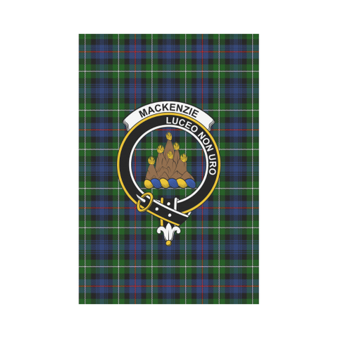 ScottishShop Garden Flag - Tartan Mackenzie Modern Flag  Clan Badge