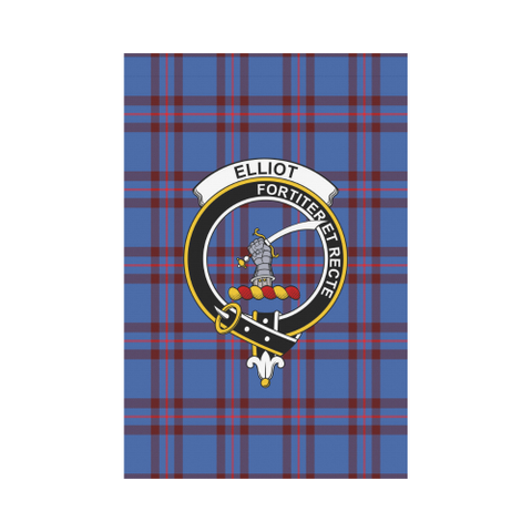 Garden Flag | Tartan Elliot Modern Flag | 2 Sizes Clan Badge