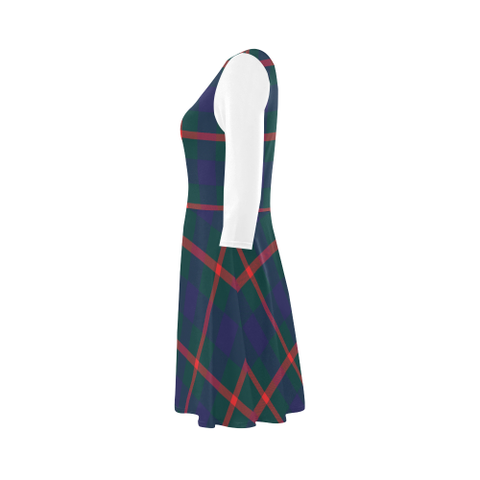 Agnew Modern Tartan 3/4 Sleeve Sundress | Exclusive Over 500 Clans