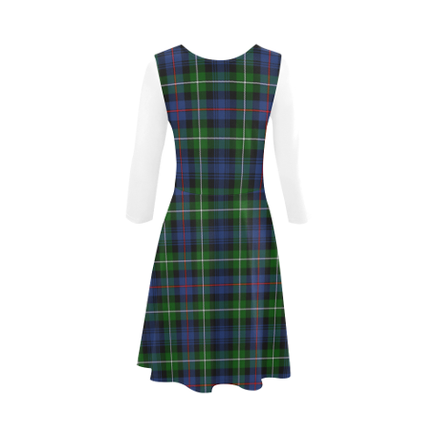 MacKenzie Modern Tartan 3/4 Sleeve Sundress | Exclusive Over 500 Clans