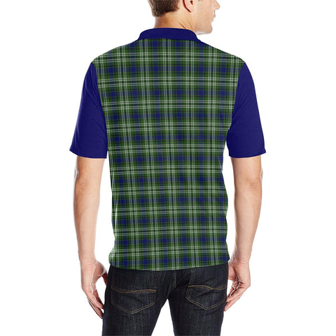 Tartan Polo - Haliburton Plaid Mens Polo Shirt - Clan Crest