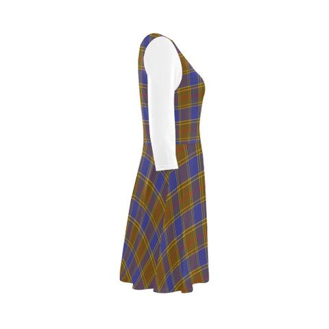 Image of Balfour Modern Tartan 3/4 Sleeve Sundress | Exclusive Over 500 Clans