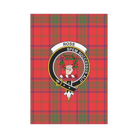 Image of Garden Flag | Tartan Ross Modern Flag | 2 Sizes Clan Badge