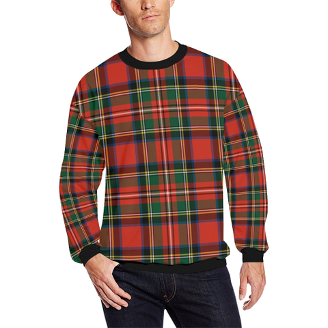 Image of Stewart Royal Modern Tartan Crewneck Sweatshirt