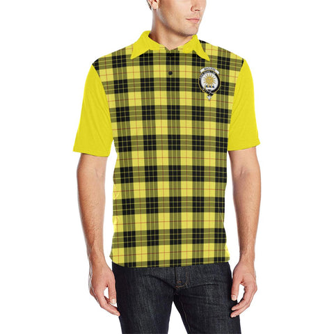Image of Tartan Polo - MacLeod of Lewis Plaid Mens Polo Shirt - Clan Crest