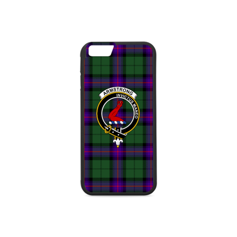 Armstrong Tartan Clan Badge Rubber Phone Case