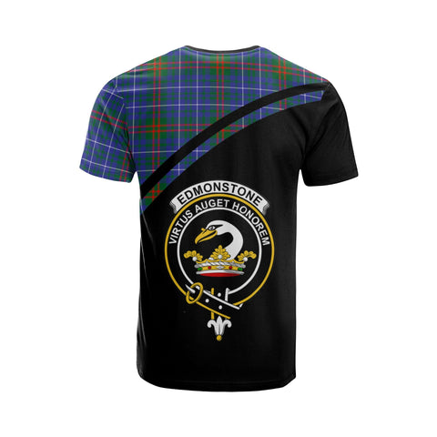 Tartan Shirt - Edmonstone (of Duntreath) Clan Tartan Plaid T-Shirt Curve Version Back