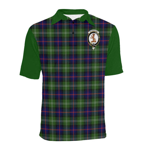 Image of Tartan Polo - Sutherland I Plaid Mens Polo Shirt - Clan Crest