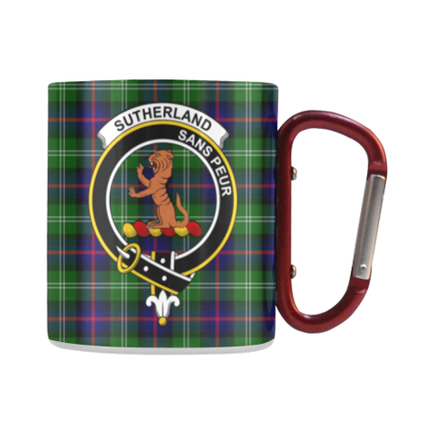 Sutherland Ii Tartan Mug Classic Insulated - Clan Badge