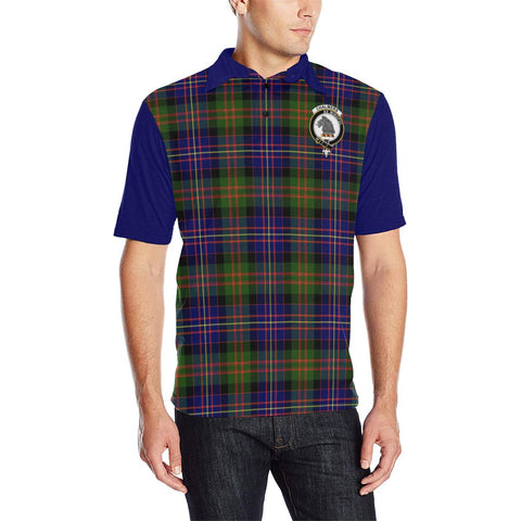 Tartan Polo - Chalmers Plaid Mens Polo Shirt - Clan Crest