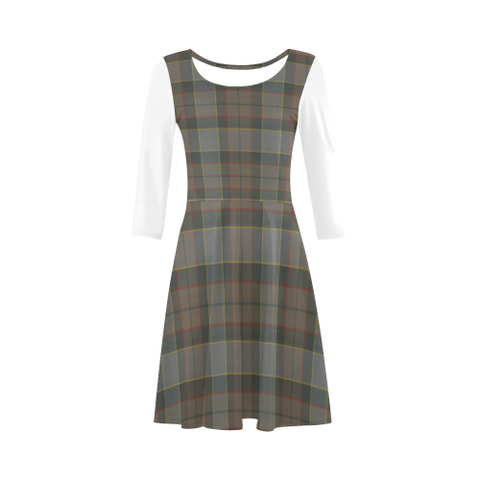 Outlander Fraser Tartan 3/4 Sleeve Sundress | Exclusive Over 500 Clans