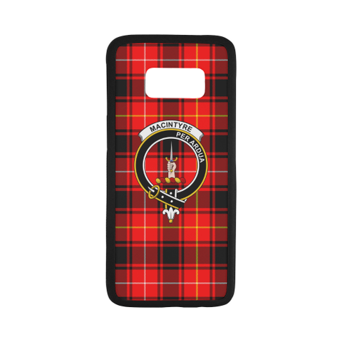 Macintyre Tartan Clan Badge Rubber Phone Case