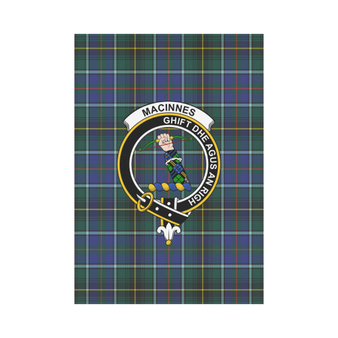 Garden Flag | Tartan Macinnes Modern Flag | 2 Sizes Clan Badge