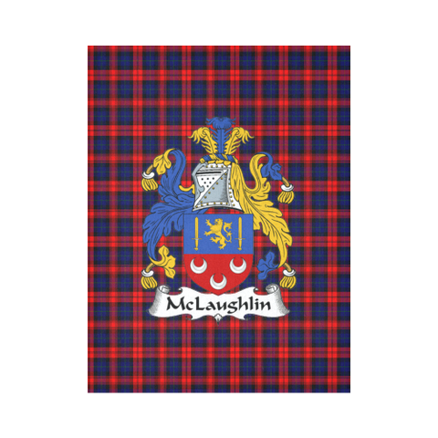 Image of Mclaughlin Tartan Tapestry Clan Crest
