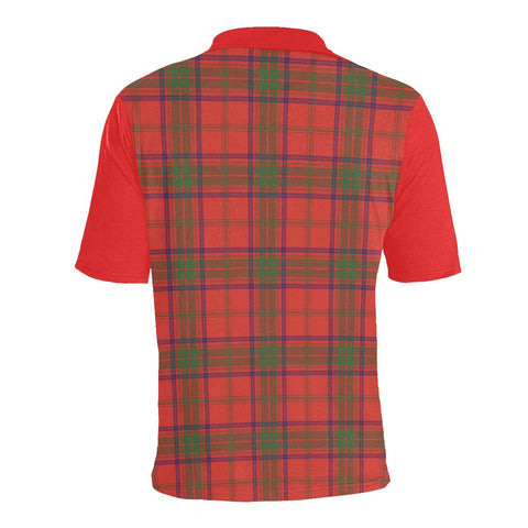Tartan Polo - Ross Plaid Mens Polo Shirt - Clan Crest