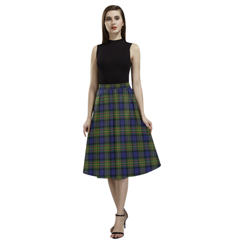 Tartan Crepe Skirt - MacLaren Modern Skirt For Women