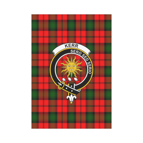 Garden Flag | Tartan Kerr Modern Flag | 2 Sizes Clan Badge
