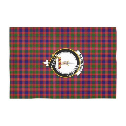 Tartan Tablecloth - MacIntire Tablecloth with Crest | Tartan Plaid Table Linen