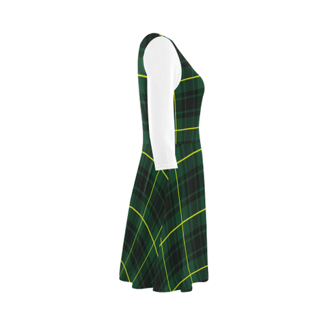 MacArthur Modern Tartan 3/4 Sleeve Sundress | Exclusive Over 500 Clans