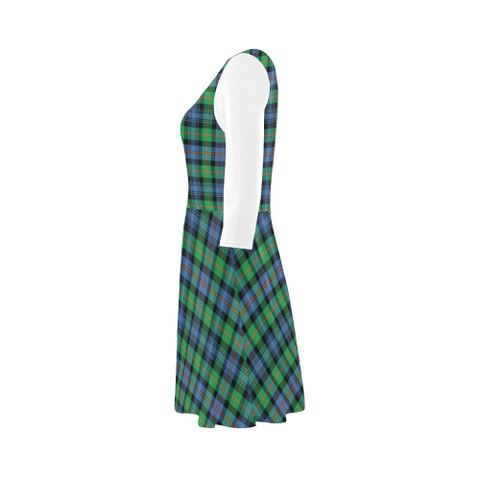 Image of Murray of Atholl Ancient Tartan 3/4 Sleeve Sundress | Exclusive Over 500 Clans