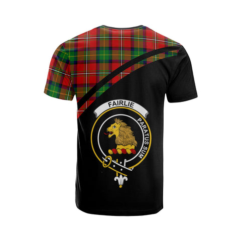 Tartan Shirt - Fairlie Clan Tartan Plaid T-Shirt Curve Version Back
