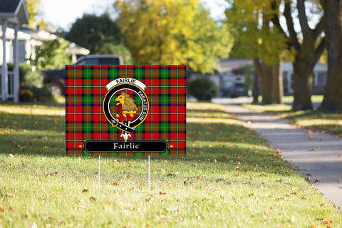 ScottishShop Fairlie Yard Sign - Tartan Crest Yard Sign