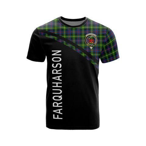 Image of Tartan Shirt - Farquharson Clan Tartan Plaid T-Shirt Curve Version Front