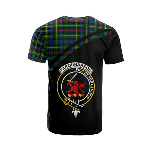 Image of Tartan Shirt - Farquharson Clan Tartan Plaid T-Shirt Curve Version Back