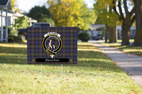 ScottishShop Fletcher Yard Sign - Tartan Crest Yard Sign