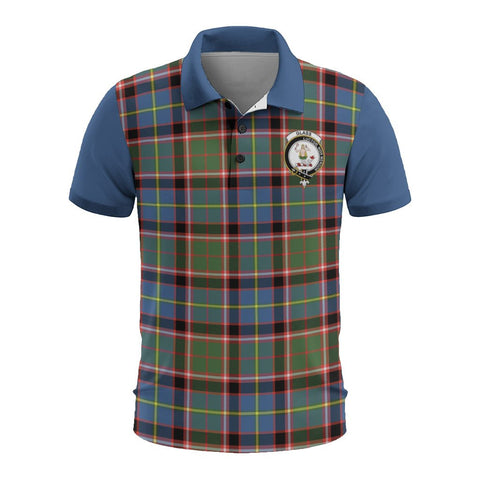 Tartan Polo - Glass Plaid Mens Polo Shirt - Clan Crest