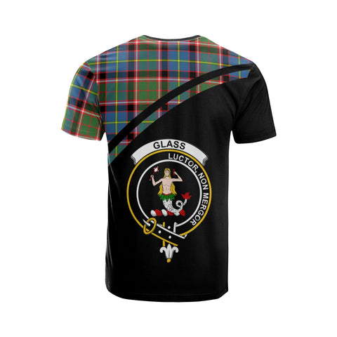 Tartan Shirt - Glass Clan Tartan Plaid T-Shirt Curve Version Back