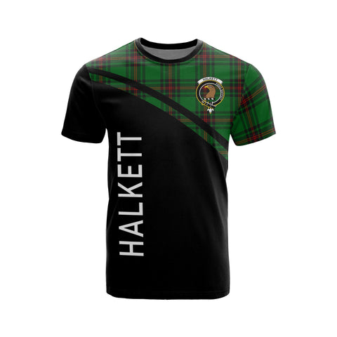 Image of Tartan Shirt - Halkett Clan Tartan Plaid T-Shirt Curve Version Front