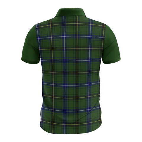 Tartan Polo - Henderson Plaid Mens Polo Shirt - Clan Crest