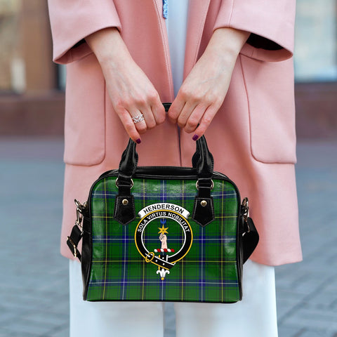 Image of Henderson Modern Tartan Clan Shoulder Handbag | Special Custom Design