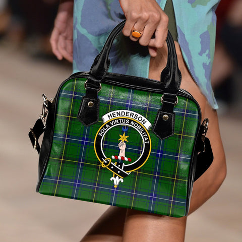 Henderson Modern Tartan Clan Shoulder Handbag | Special Custom Design